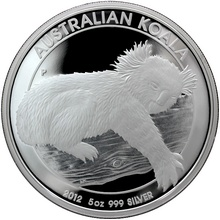 Stříbrná mince 5 Oz Koala 2012 Proof