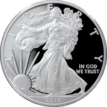 Stříbrná mince 1 Oz American Eagle 2015 Proof