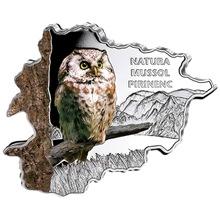 Stříbrná mince Sova Andorra Natura 1 Oz 2013 Proof