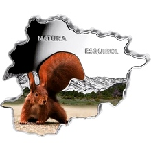 Stříbrná mince Veverka Andorra Natura 1 Oz 2013 Proof