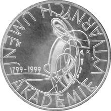 Stříbrná mince 200 Kč Akademie výtvarného umění v Praze 200. výročí 1999 Standard