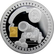 Stříbrná mince pozlacená Car dělo Kremlin Series 2011 Proof