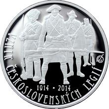 Stříbrná mince 200 Kč Založení Československých legií 100. výročí 2014 Proof