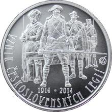 Stříbrná mince 200 Kč Založení Československých legií 100. výročí 2014 Standard