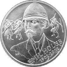 Stříbrná mince 200 Kč Emil Holub 100. výročí úmrtí 2002 Standard