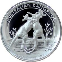 Stříbrná mince Australian Kangaroo 1 Oz 2010 High Relief Piedfort Proof