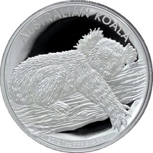 Stříbrná mince Koala High Relief 1 Oz 2012 Proof