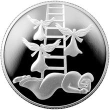 Stříbrná mince Jákobův sen 2 NIS Izrael Biblické umění 2014 Proof