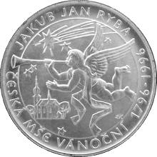 Stříbrná mince 200 Kč Jakub Jan Ryba Česká mše vánoční 200. výročí 1996 Standard