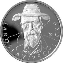 Stříbrná mince 200 Kč Jaroslav Vrchlický 150. výročí narození 2003 Proof
