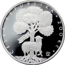Stříbrná mince 200 Kč Založení Jednoty bratrské 550. výročí 2007 Proof