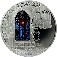 Stříbrná mince Katedrála sv. Petra a Pavla Okno do vesmíru 2014 Meteorit Proof