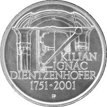 Strieborná minca 200 Kč Kilián Ignác Dientzenhofer 250. výročie úmrtia 2001 Štandard