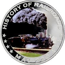 Stříbrná mince kolorovaný MAV - 220 History of Railroads 2011 Proof