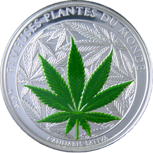 Stříbrná mince Konopí 2010 Proof Benin 1 Oz
