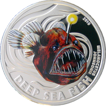 Stříbrná mince Deep Sea Fish Ďasové 2010 Proof Pitcairn Islands