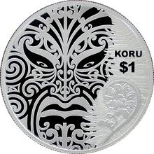 Stříbrná mince Koru Maori Art 1 Oz 2013 Proof