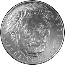 Strieborná minca 200 Kč Leoš Janáček 150. výročie narodenia 2004 Štandard