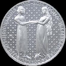 Stříbrná mince 200 Kč Jan Lucemburský a Eliška Nástup na trůn 700. výročí 2010 Standard
