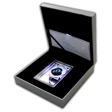 Stříbrná mince Luxury Line Lastura Indigové osvícení 2015 Krystal Proof