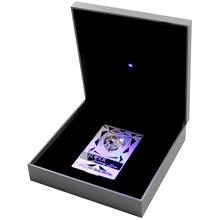 Stříbrná mince Luxury Line Srdce Modré osvícení 2014 Krystal Proof