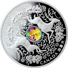 Stříbrná mince Jelen - Maple of Good Fortune 2012 Proof (.9999)
