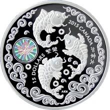 Stříbrná mince Ryba - Maple of Prosperity 2015 Proof (.9999)