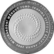 Stříbrná mince 200 Kč Zasedání MMF a světové banky v Praze 2000 Proof