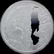 Stříbrná mince Mrtvé moře 1 NIS Izrael 2011 Proof