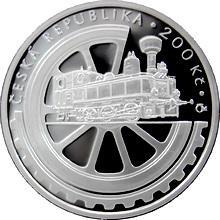 Stříbrná mince 200 Kč Založení Národního technického muzea 100. výročí 2008 Proof