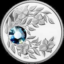 Stříbrná mince Březen Narozeninový krystal (Akvamarín) 2012 Proof