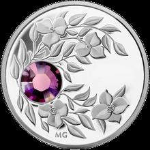 Stříbrná mince Únor Narozeninový krystal (Ametyst) 2012 Proof