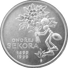 Stříbrná mince 200 Kč Ondřej Sekora 100. výročí narození 1999 Standard