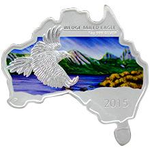 Stříbrná mince Orel klínoocasý Australian Map 1 Oz 2015 Proof