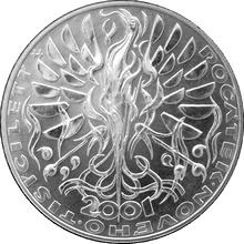 Stříbrná mince 200 Kč Počátek nového tisíciletí 2000 Standard