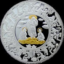 Stříbrná mince pozlacená Panna Marie 2010 Proof