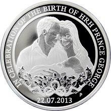 Stříbrná mince HRH Prince George 1 Oz 2013 Proof