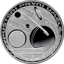 Stříbrná mince 200 Kč Vypuštění první umělé družice Země 50. výročí 2007 Proof