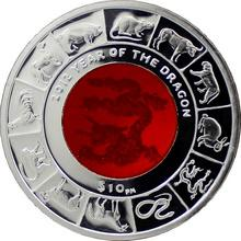 Stříbrná mince Year of the Dragon Rok Draka 2012 Krystal Proof