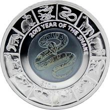 Stříbrná mince Year of the Snake Rok Hada 2013 Titan Proof