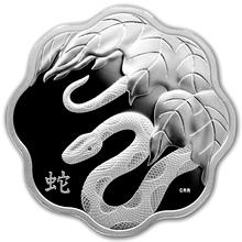 Stříbrná mince Year of the Snake Rok Hada Lotos 2013 Proof