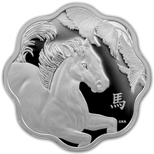 Stříbrná mince Year of the Horse Rok Koně Lotos 2014 Proof