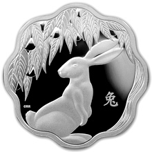 Stříbrná mince Year of the Rabbit Rok Králíka Lotos 2011 Proof