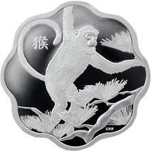 Stříbrná mince Year of the Monkey Rok Opice Lotos 2016 Proof