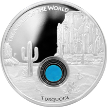 Stříbrná mince Treasures of the World Severní Amerika 1 Oz Tyrkys 2015 Proof