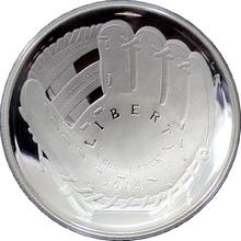 Stříbrná mince Baseballová síň slávy 2014 Proof