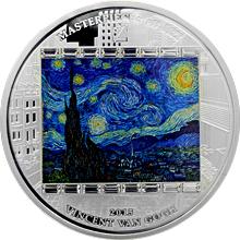 Stříbrná mince 3 Oz Hvězdná noc Vincent van Gogh 2015 Krystaly Proof