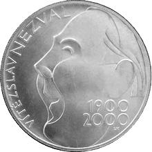 Stříbrná mince 200 Kč Vítězslav Nezval 100. výročí narození 2000 Standard