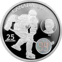 Stříbrná mince Wayne & Walter Gretzky 2011 Hologram Proof (.9999)