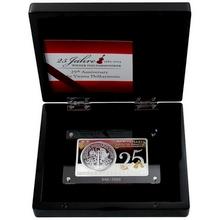 Stříbrná mince Wiener Philharmoniker 25. výročí Exkluzivní edice 2014 Proof